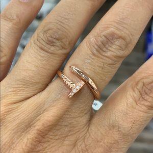 CZ nail Designer inspired Ring 5 6 7 8 9 10